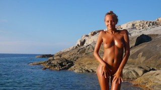 Katya Clover Naked Beach Dancer[Corsica Summer 2014]