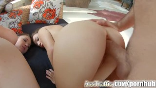 Ass fucking enjoy brunette anal traffic pretty anal in