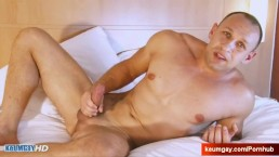 Igor a real straight guy gets wanked his huge cock by a guy in spite of him
