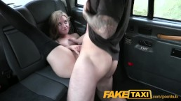 FakeTaxi Petite blonde in sexy pull up stockings