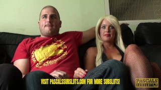 Preview: First ever cuckold scene at Pascalssubsluts.com  kink squirting rough swinger orgasm spitting submissive sluts sloppy blowjobs trailer cuckolding humiliation pascalssubsluts