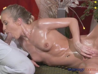 Sexy Naked Coco Fucking, Massage Rooms Sexy toned blonde has her tiny shaved hole filled with