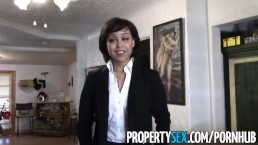 PropertySex - Really cute real estate agent makes dirty sex video