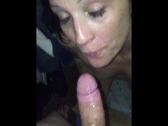 Awesome blowjob from my hot brunette...