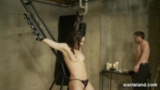 Master gives sexy slave Intense orgasms with his vibrating magic wand  pussy torment spanking dominatrix submissive sex and submission bdsm dildo femdom domination wasteland kink orgasms kinky screaming tied up
