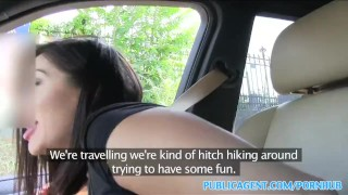 PublicAgent Horny hitchhiking babes fuck for cash part 1 Lingerie doggystyle