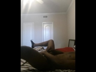 Me stroking my BBC and shooting cum