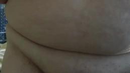 Sleepy masturbation in bed watching porn