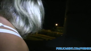 PublicAgent Blonde women gets fucked outside next to the road