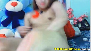 Super Gorgeous Asian Ladyboy Masturbation Toy hardcore