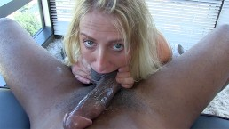 Busty Blonde Gets Hardcore On Big Black Cock At Casting