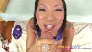 PervCity Asa Akira Japanese Blowjob butt-fucking sloppy gaping toys asian pervcity blowjob gagging big-cock rimming deepthroat tattoo japanese cock-sucking big-boobs anal pov big-dick skinny gape