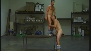 Warehouse the on muscled fucking men ass blowjob
