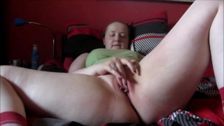 Pussy Play with Glass dildo with orgasm - SexyEllie