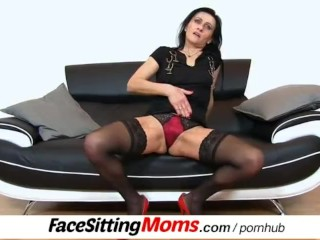 Hot legs amateur mom Marta pussy eating and facesitting