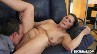 Cock hungry GILF Margo and her newest boy toy
