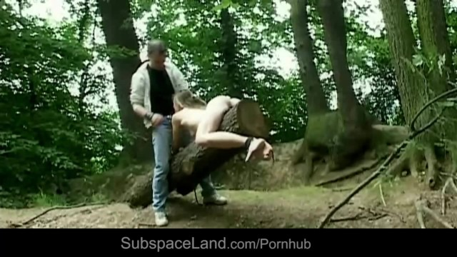naked boy fucked outside