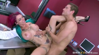 Hot inked Doctor Anna Bell loves big cock - Brazzers Girl masturbating