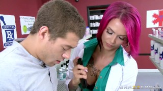 Hot inked Doctor Anna Bell loves big cock - Brazzers High style
