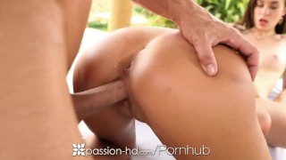 Passion-HD - Ariana and Tali play with each other until a big cock arrives  3some threesome tali dova passion hd ariana marie outdoors hd cumshot blowjob massage