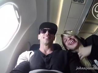 Public Blowjob Porn - Kissa Sins RIsky Plane Sucking Cock