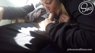Public Sex Blow Job on an Airplane Big gagging