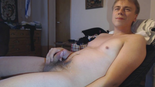 Guy Masturbating Cum Moaning