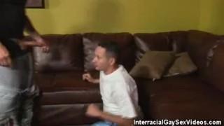 Interracial blowjobs men encounter gay throat
