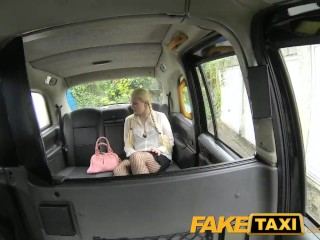 Thumbnail Sex Blonde FakeTaxi Blonde likes older men in backseat of London taxi