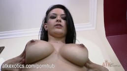 Katrina Jade loves to rub her juicy pussy