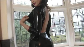 Gorgeous Girl does amazing Latex Striptease  kink striptease latex latex leggings big boobs stripoer teasing leggings latexheavenvideo