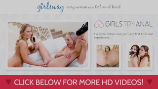 Girlsway harper tricked dillion scissoring into female brunette