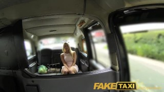 FakeTaxi Helpful cab driver gives sexy blonde a creampie on backseat Big cum