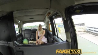On gives sexy creampie a cab faketaxi backseat helpful blonde driver mother big
