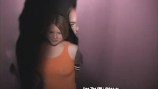 Big Tit Blonde Sally Rides Cocks in Porno Theater Blowjob girlfriend