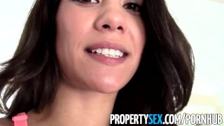 Preview 6 of PropertySex - Fucking hot divorced wife with house for sale horny for dick