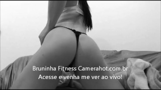 Preview 2 of Close up on fitness brazilian ass! - Big latin booty