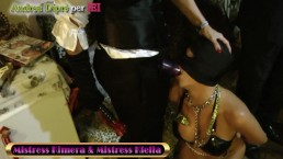 Two mistress and two female slaves with Andrea Diprè