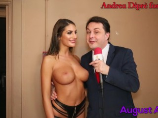 August Ames gives a blow job lesson for Andrea Diprè