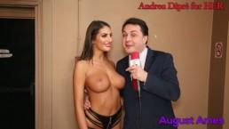 August Ames gives a blow job lesson for Andrea Diprè