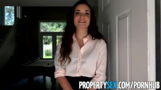 PropertySex - Naughty real estate agent seduces buyer with her sexy ways Public brunette