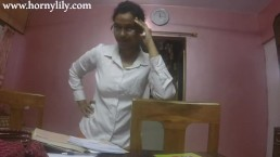 slutty indian secretary gets horny in the office