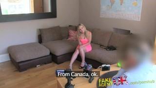 FakeAgentUK Canadian hottie get anal fucked in casting