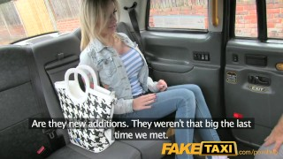 FakeTaxi Petite lady with big tits gets down and dirty Contact cums