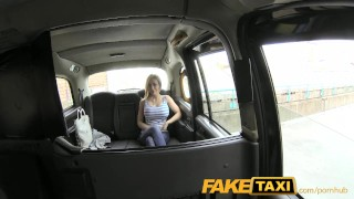 FakeTaxi Petite lady with big tits gets down and dirty Fantasy licking