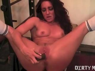 Savannah and her Big Black Dildo