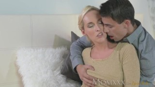 MOM Stunning MIlf sucks and fucks her younger stud dry ass momxxx tits sensual oral sex female friendly blonde shaved pussy blowjob mom fingering pussy orgasm blonde milf female orgasms big dick massage czech