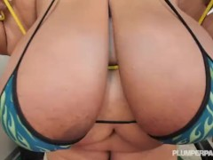 SSBBW Cotton Candi Works Out Her 48MM Massive Melons