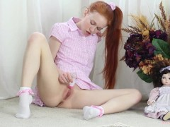 Teen Dolly Little Fucks Pussy with Every Day Objects