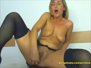 Amateur Blonde Having Fun with a Dildo